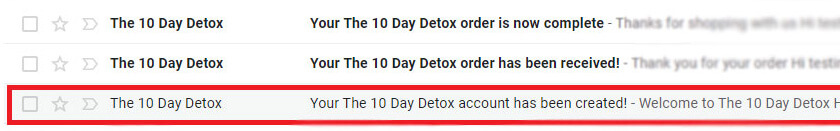 the 10 day detox email
